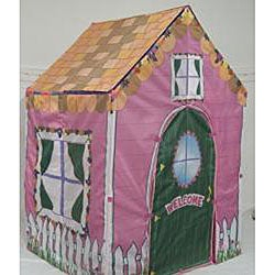 2-in-1 Cottage Princess Castle Play House Tent - Thumbnail 2