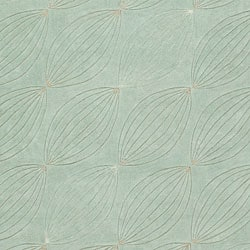Hand-tufted Green Geometric Rug (8' x 11') - Thumbnail 2