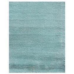 Hand-loomed Haiden Blue Wool/ Viscose Rug (3'6 x 5'6) - Thumbnail 2