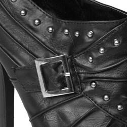 Liliana by Adi Designs Women's 'Tuscan-4' Studded Detail Stiletto Boot - Thumbnail 2