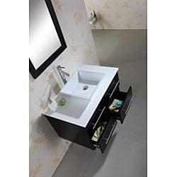 Virtu USA Helen 36-inch Espresso Single-sink Bathroom Vanity with Mirror - Thumbnail 2