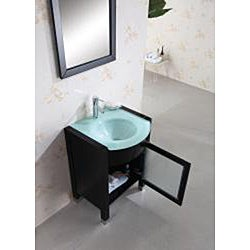 Virtu USA Suzie 24-inch Espresso Single-sink Bathroom Vanity with Mirror - Thumbnail 2