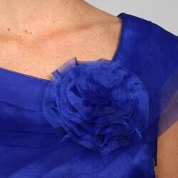 London Times Women's Shutter Pleat Organza Dress - Thumbnail 2