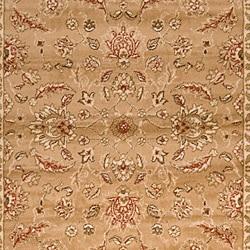 Loomed Free Form Tan Border Rug (7'9 x 11'2) - Thumbnail 2