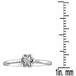 Marquee Jewels 10k White Gold Diamond Accent Promise Ring