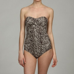 Kenneth Cole Women's 1-piece Python Print Swimsuit - Thumbnail 2