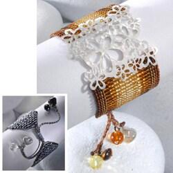 Sterling Silver Wild Flowers Beaded Bracelet (Colombia) - Thumbnail 2