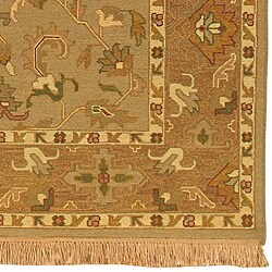 Hand-knotted Epoch Dusty Rose Wool Rug (9' x 12') - Thumbnail 2