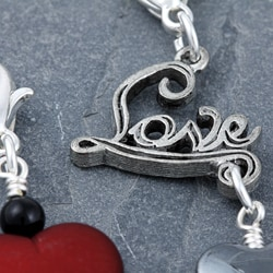 Fashion Forward Silverplated Love Heart Charms (Set of 2) - Thumbnail 2