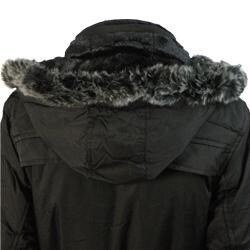 E-Niqi Women's Classic Faux Fur Hooded Coat - Thumbnail 2