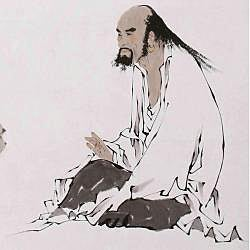 'The Philosopher' Wall Art Scroll Painting (China)