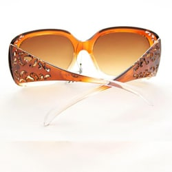Women's P10048 Brown/Clear Oversized Sunglasses