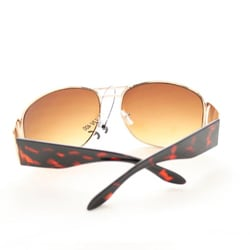 Women's M9273 Brown Fashion Sunglasses - Thumbnail 2