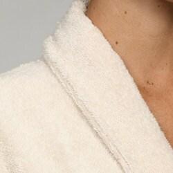 Unisex Ecru Rayon from Bamboo Spa Bath Robe - Thumbnail 2