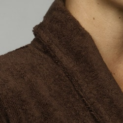 Unisex Chocolate Rayon from Bamboo Spa Bath Robe - Thumbnail 2
