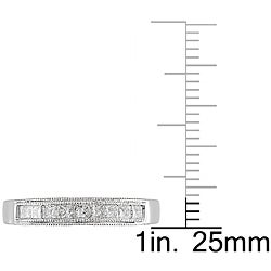 Miadora 10k White Gold 1/2ct TDW Diamond Anniversary Ring (G-H, I2-I3) - Thumbnail 2