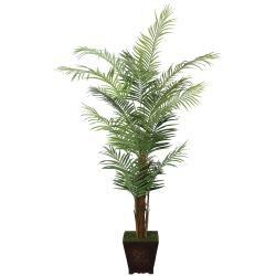 Laura Ashley Realistic 7-ft Artificial Areca Palm Tree
