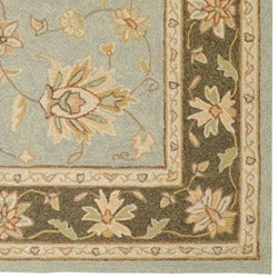 Hand-hooked Bliss Outdoor Silver Sage Rug (5' x 8') - Thumbnail 2