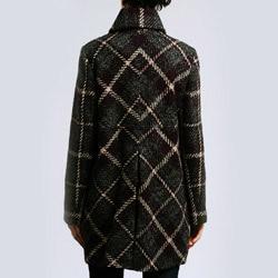 Larry Levine Women's Missy Plaid Coat