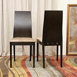 Lambert Dark Brown Dining Chairs (Set of 2) - Thumbnail 2
