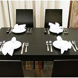 Lambert Dark Brown Wood Modern Dining Table