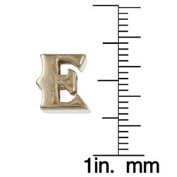 Signature Moments 14K Gold over Silver 'E' Alphabet Bead - Thumbnail 2
