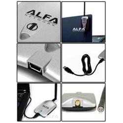 Alfa AWUS036H 1000mW 1W 802.11G High Gain USB Wireless Long-Rang WiFi Network Adapter - Thumbnail 2