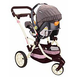 Contours Options 3-Wheeler Stroller in Blush - Thumbnail 2