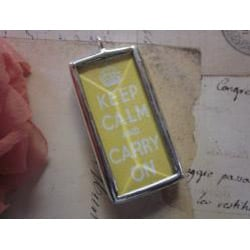 Anna & Rose 'Keep Calm and Carry On' Necklace