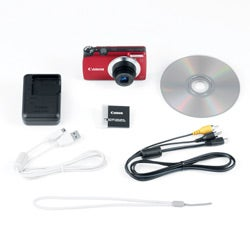 Canon PowerShot A3300IS 16.0MP Red Digital Camera