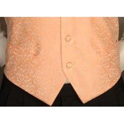 Ferrecci Men's Four-piece Peach Vest Set - Thumbnail 2