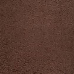 Loomed Chocolate Floral Plush Wool Rug (9' x 13')