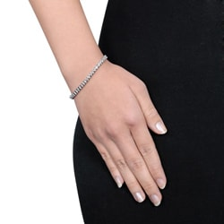 Miadora Sterling Silver 2ct TDW Diamond Bracelet