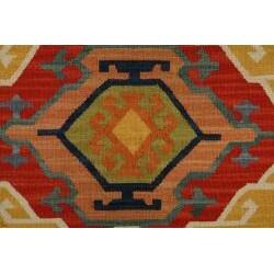 Hand-woven Keisari Kilim Cream wool Area Rug (5' x 8') - Thumbnail 2