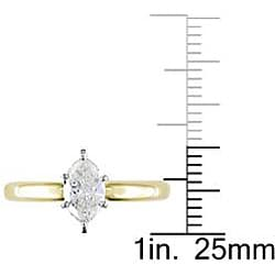Miadora 14k Two-tone Gold 3/4ct TDW Diamond Solitaire Ring (G-H, VS2) - Thumbnail 2