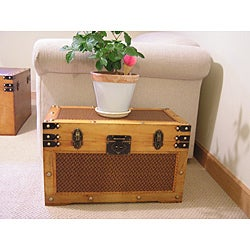 Tuscany Wooden Wood Steamer Treasure Chest (Set of 2)