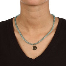 14k Gold over Sterling Silver 'Joy' Apatite Necklace