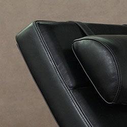 Manhattan Black Leather Daybed