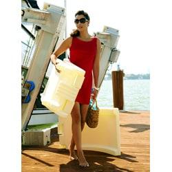The SplashLounger Deck Sun Cream Chaise/ Pool Floater Chair