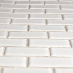 Thumbnail 3, Somertile Victorian Subway White Porcelain Mosaic Tiles (Pack of 10). Changes active main hero.