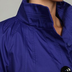 Black Rivet Women's Blue Front Button Jacket FINAL SALE - Thumbnail 2