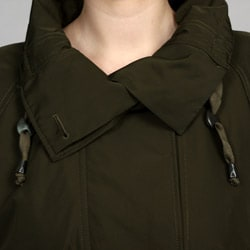 Kenneth Cole Women's Belted Anorak - Thumbnail 2