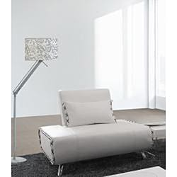 Furniture of America Lucas White Leather Sofa Chair