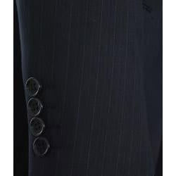Ferrecci Men's Black Pinstripe 3-button Suit