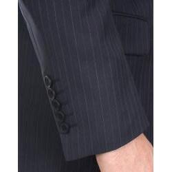 Ferrecci Men's Navy Stripe 3-button Suit - Thumbnail 2