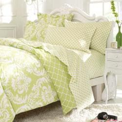 Marcheline Mint Queen-size 7-piece Bed in a Bag with Sheet Set - Thumbnail 2