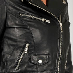 Knoles & Carter Women's Leather Motorcyle Jacket - Thumbnail 2