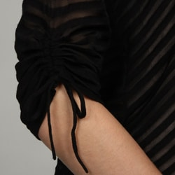 Grace Elements Women's Shadow Stripe Open Front Cardigan - Thumbnail 2