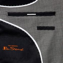 Ben Sherman Men's Black and White Houndstooth Slim-fit Sportcoat