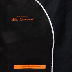 Ben Sherman Men's Blue Plaid Windowpane Slim-fit Sportcoat